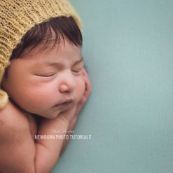 newborn photography side pose